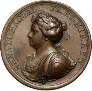 Wielka Brytania, Anna, medal z 1704 roku na pamiątkę Aktu Hojności w stosunku do duchowieństwa