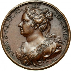 Great Britain, Anne, bronze medal without date (1731)