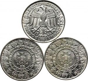PRL, zestaw 3 x 100 złotych 1966, Mieszko i Dąbrówka