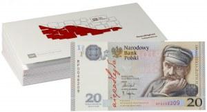 III RP, zestaw 25 x 20 złotych 2018, Józef Piłsudski - 100-lecie odzyskania niepodległości