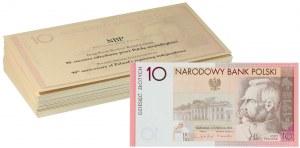 III RP, zestaw 25 x 10 złotych 2008, Józef Piłsudski - 90-lecie odzyskania niepodległości