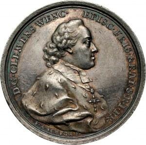 Stanisław August Poniatowski, medal z 1765 roku, wybity z okazji wyboru na koadiutora biskupstwa augsburskiego Klemensa Wacława Wettyna