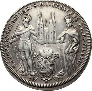 Germany, Bamberg, Marquard Sebastian Schenk von Stauffenberg, Thaler 1691