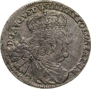 August III, dwuzłotówka (8 groszy) 1761 EC, Lipsk