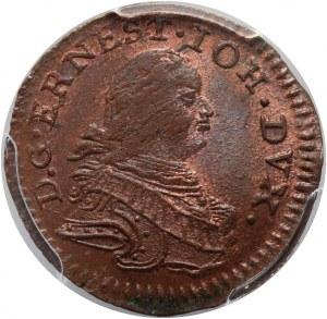 Kurlandia, Ernest Jan Biron, szeląg 1764, Mitawa