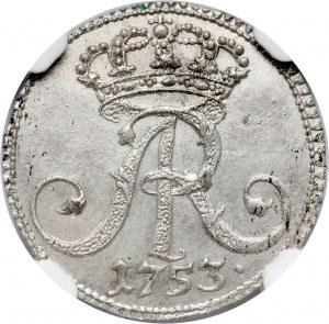 August III, 1/48 talara (półgrosz) 1753 L, Lipsk, PRÓBA