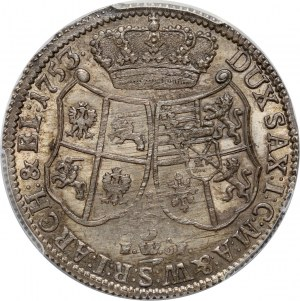 August III, 1/3 talara 1753 FWÔF, Drezno