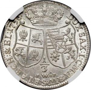 August III, 1/3 talara 1756 FWÔF, Drezno
