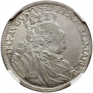 August III, ort 1754 EC, Lipsk, ODWROTKA