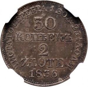 Zabór rosyjski, Mikołaj I, 30 kopiejek = 2 złote 1836 MW, Warszawa