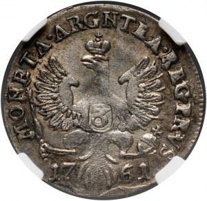 Rosja, Elżbieta I, monety bite dla Prus, 3 grosze 1761, Królewiec