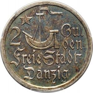 Wolne Miasto Gdańsk, 2 guldeny 1923, Utrecht, koga, stempel lustrzany (PROOF)