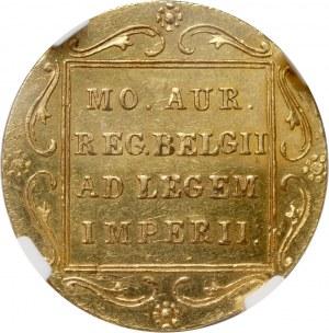 Powstanie Listopadowe, dukat 1831, Warszawa, kropka przed pochodnią