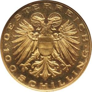 Austria, Republika, 100 szylingów 1936, Wiedeń, Madonna z Mariazell