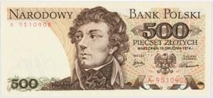 PRL, 500 złotych 16.12.1974, seria A