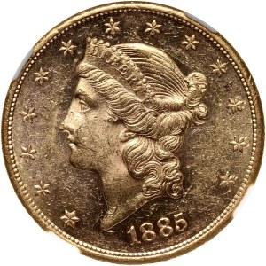 USA, 20 Dollars 1885 S, San Francisco