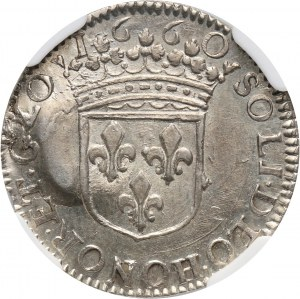 France, Orange, William Henry of Nassau, 1/12 Ecu 1660