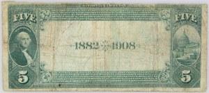 Stany Zjednoczone Ameryki, National Currency, Minnesota, Merchants National Bank of Saint Paul, 5 dolarów 1882