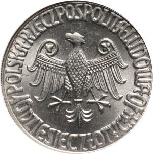 PRL, 10 złotych 1964, Kazimierz Wielki, PRÓBA, nikiel