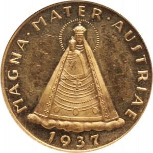 Austria, Republika, 100 szylingów 1937, Wiedeń, Madonna z Mariazell