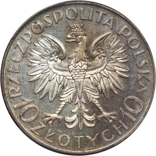 II RP, 10 złotych 1933, Warszawa, Jan III Sobieski, STEMPEL LUSTRZANY, Ex-Karolkiewicz
