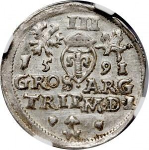 Zygmunt III Waza, trojak 1591, Wilno