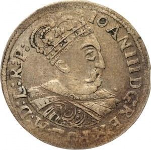 Jan III Sobieski, szóstak 1684, Kraków, litera C pomiędzy herbami