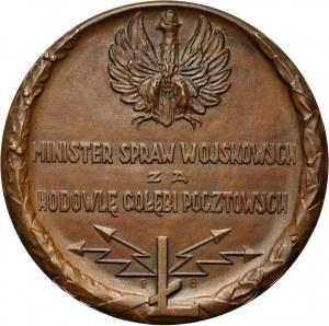 II RP, medal z 1925 roku, Ministerstwo Spraw Wojskowych, za hodowlę gołębi pocztowych