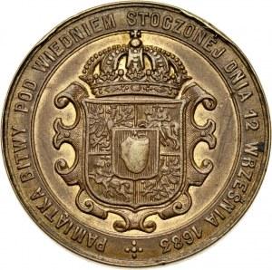 XIX wiek, medal z 1883 roku, Jan III Sobieski, 200-lecie zwycięstwa pod Wiedniem