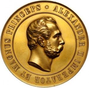 Rosja, Aleksander III, medal z 1894, odsłonięcie pomnika Aleksandra II w Helsinkach
