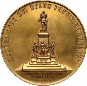 Russia, Alexander III, bronze medal, 1894, unveiling of the Alexander II monument in Helsinki