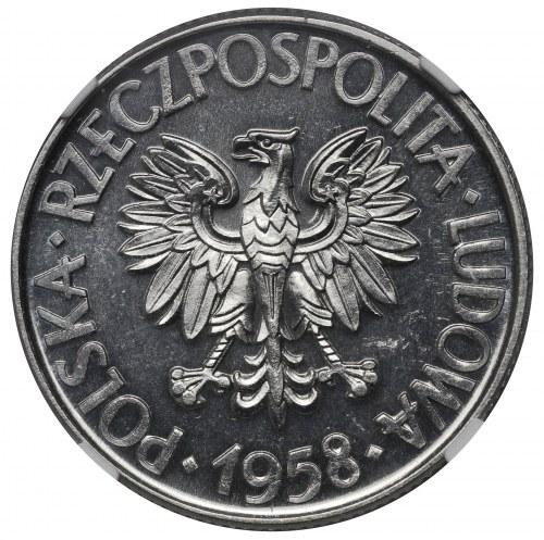PRL, 10 złotych 1958, Kościuszko, PRÓBA, ALUMINIUM
