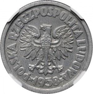 PRL, 5 złotych 1958, Waryński, PRÓBA, ALUMINIUM
