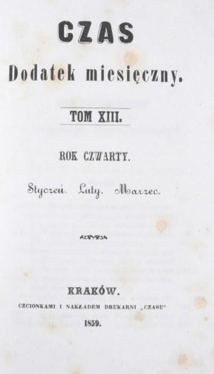 Czas, R. IV, T. XIII, 1859