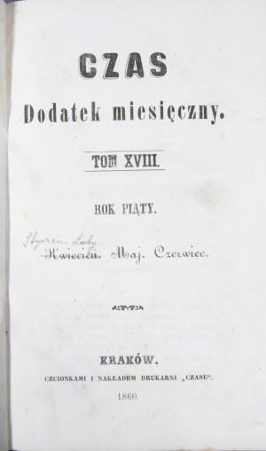Czas, R. V, T. XVII, XVIII, 1860