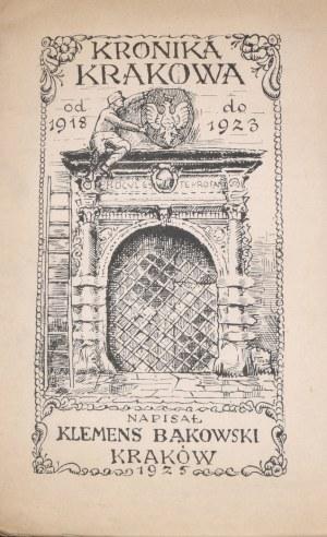 Bąkowski Klemens - Kronika Krakowa z lat 1918-1923