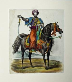 Vernet Karol, Mameluk na koniu z wyciągniętym mieczem