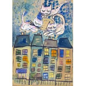 DUDA-GRACZ JERZY, Koty na dachu