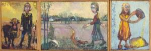 MAŚLUSZCZAK FRANCISZEK, Wieśbuk - tryptyk, 1996