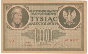 1.000 marek 1919 - X - rzadka i ciekawa seria