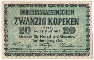 Poznań 20 kopiejek 1916