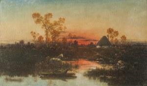 Karol Heimroth (1860 - 1930), Pejzaż przedwieczorny, ok. 1900 r.