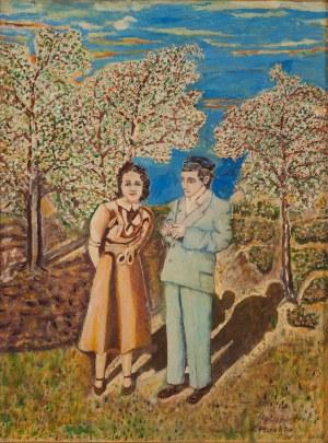 Zygmunt Płachta (Xx W.), Autoportret z żoną