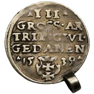 Sigismund I the Old, 3 groschen Danzig 1539 - PRVS
