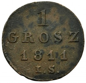 Duchy of Warsaw, 1 groschen Warsaw 1811 IS