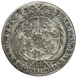 August III Sas, Ort Lipsk 1754 EC - szerokie popiersie