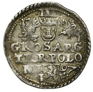 Zygmunt III Waza, Trojak Olkusz 1597 - wąskie rondo