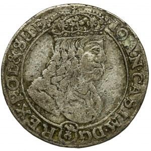 Jan II Kazimierz, Szóstak Bydgoszcz 1667 TLB - kwiatki
