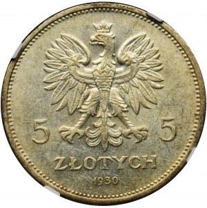 Revolution, 5 zlotych 1930 - NGC MS62