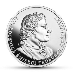 10 złotych 2017 - 200 rocznica śmierci Tadeusza Kościuszki